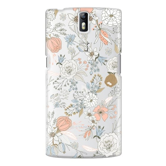 One Plus One Cases - Abstract modern coral white pastel rustic floral
