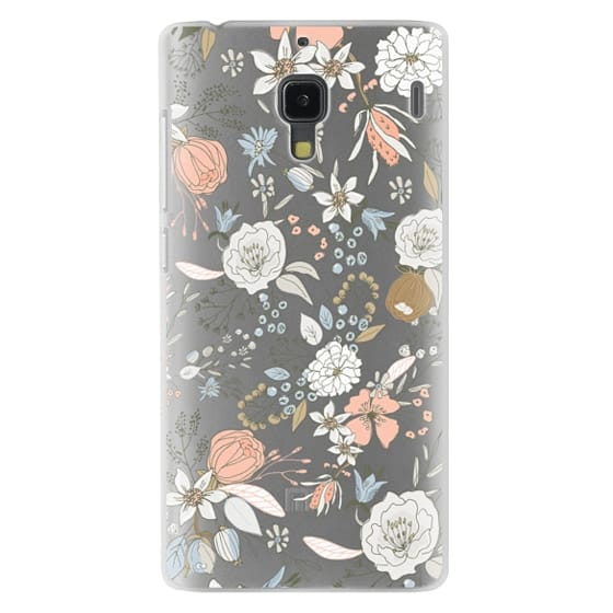 Redmi 1s Cases - Abstract modern coral white pastel rustic floral