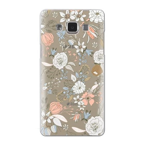 Samsung Galaxy A5 Cases - Abstract modern coral white pastel rustic floral