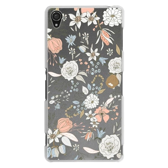 Sony Z3 Cases - Abstract modern coral white pastel rustic floral