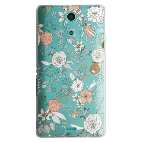 Sony Zr Cases - Abstract modern coral white pastel rustic floral