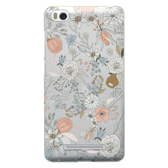 Xiaomi 4i Cases - Abstract modern coral white pastel rustic floral