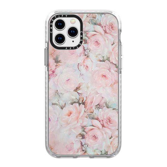 iPhone 11 Pro Cases - Vintage romantic blush pink teal bohemian rose floral