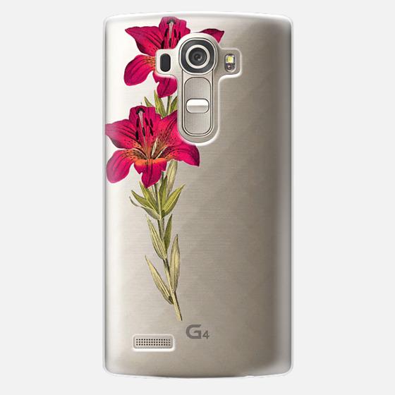 LG G4 Case - Vintage magenta orange green colorful lily floral