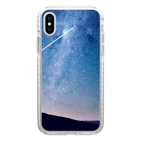 iPhone 6s Cases - Navy blue blush pink starry night landscape