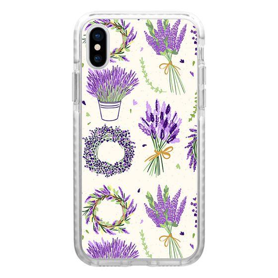 iPhone 7 Plus Cases - Modern ivory purple lavender vector floral