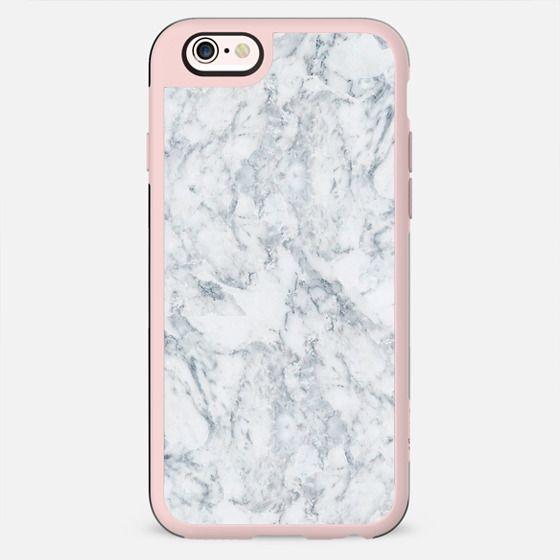 Vintage elegant navy blue white stylish marble