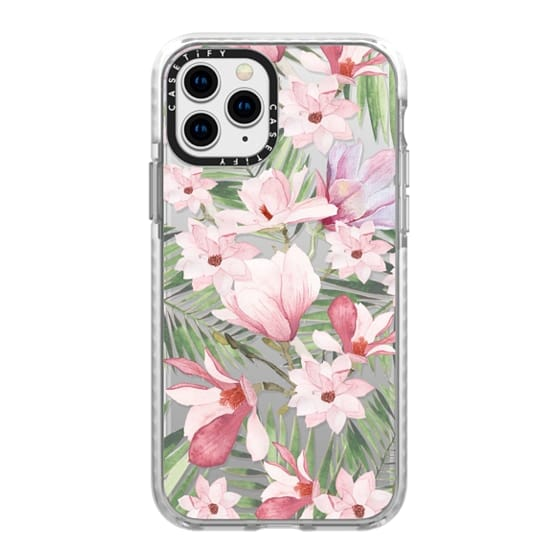 iPhone 11 Pro Cases - Blush pink lavender green watercolor tropical floral