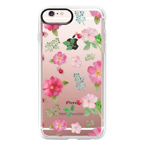 iPhone 6s Plus Cases - Botanical pink country roses hip floral pattern