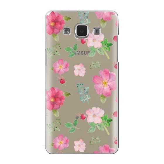 Samsung Galaxy A5 Cases - Botanical pink country roses hip floral pattern