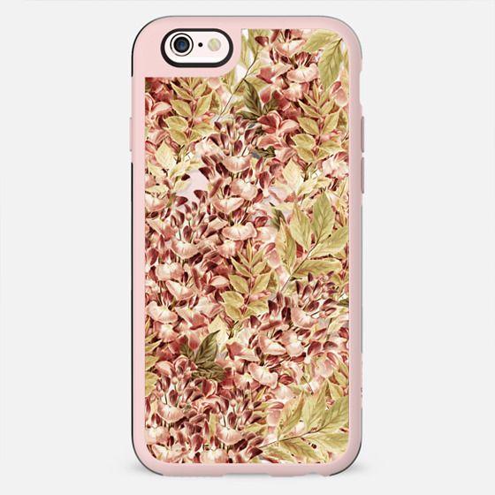 Vintage boho mauve pink dusty green floral - New Standard Case