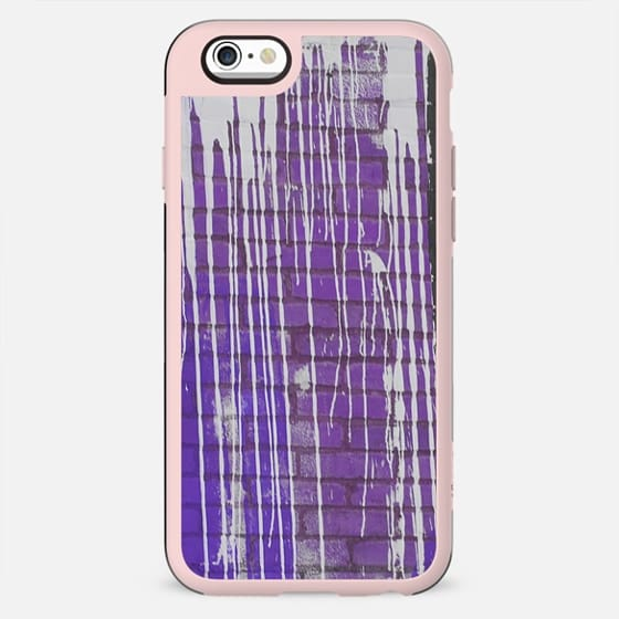 Modern abstract black violet white paint splatters pattern - New Standard Case