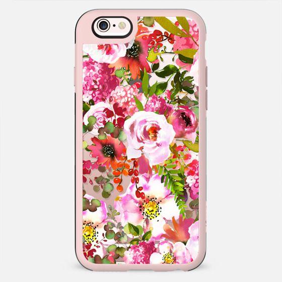 Pink lilac orange watercolor botanical roses floral - New Standard Case