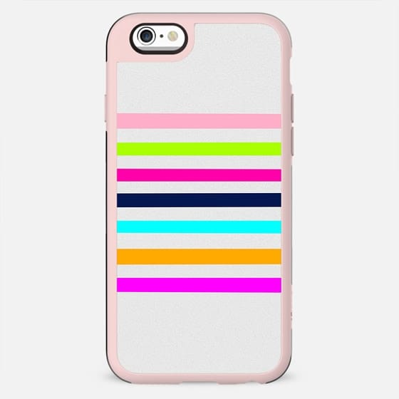 Modern neon colors geometrical whimsical stripes