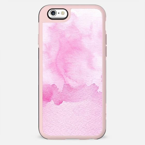 Blush pink white abstract watercolor paint - New Standard Case