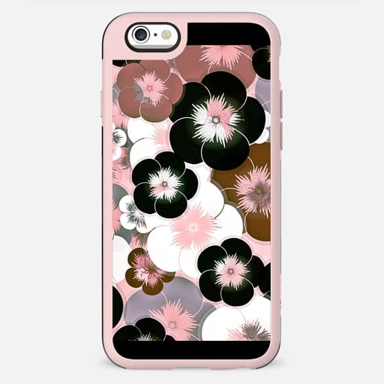 Abstract mauve pink brown black floral - New Standard Case