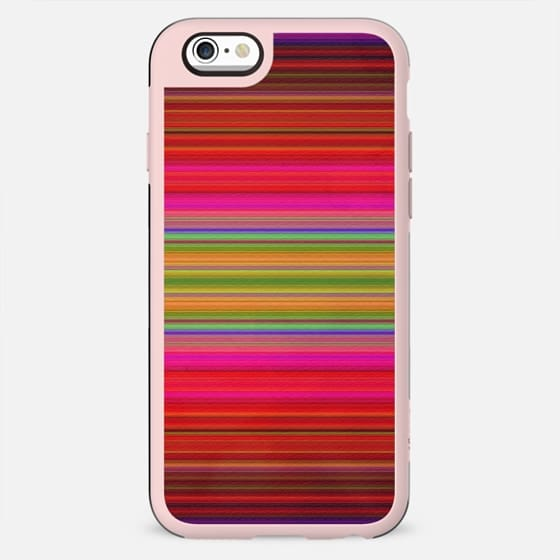 Colorful pink red green geometrical stripes - New Standard Case