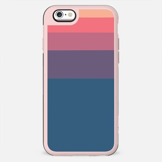 Geometrical orange pink violet blue minimalist stripes - New Standard Case