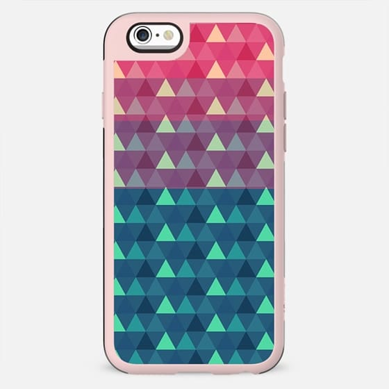 Abstract pink blue geometrical triangles pattern