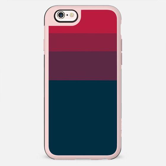 Minimalist red navy blue geometrical stripes - New Standard Case