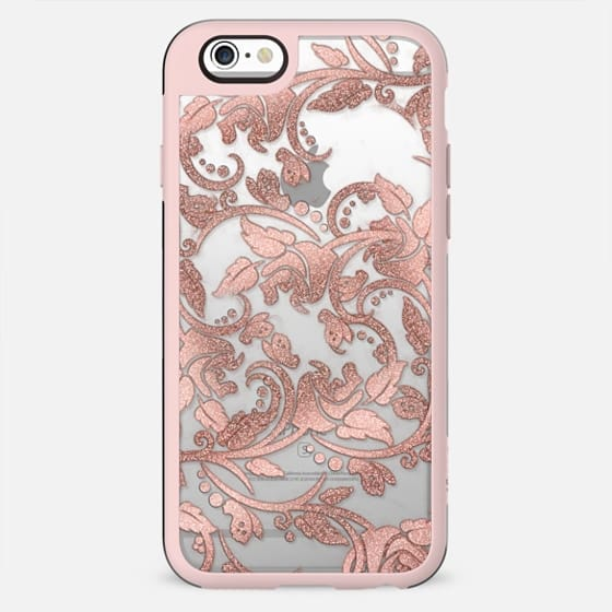 Chic girly rose gold glitter floral - New Standard Case