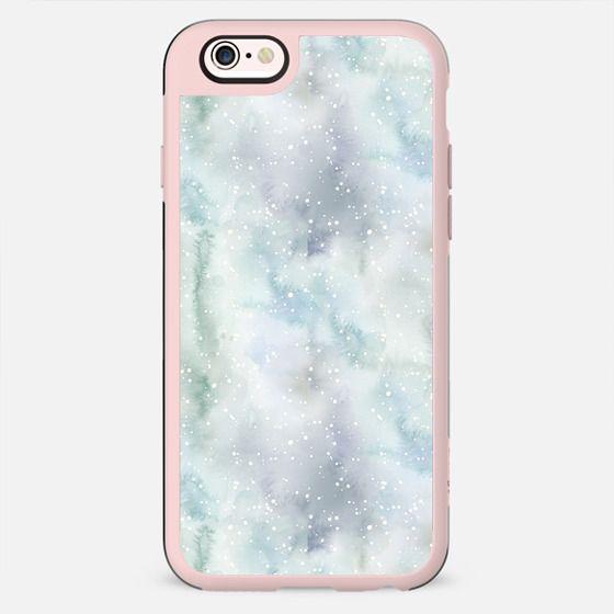 Pastel lavender teal white watercolor splatters - New Standard Case