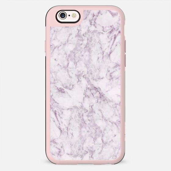 Elegant modern vintage white lilac violet marble