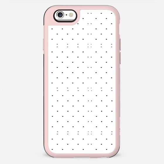 Black white geometrical polka dots modern pattern - New Standard Case