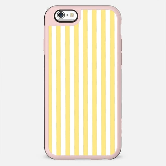 Modern geometrical yellow white stripes - New Standard Case
