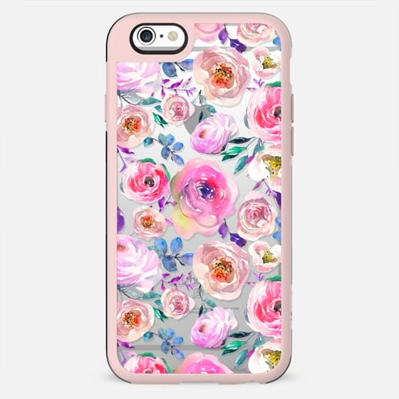 Lilac lavender pink watercolor hand painted roses - New Standard Case