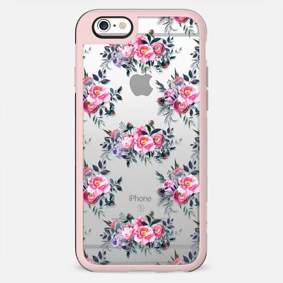 Artistic blush pink green yellow watercolor hand painted floral - New Standard Case