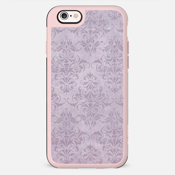 Vintage chic violet lilac floral damask pattern - New Standard Case