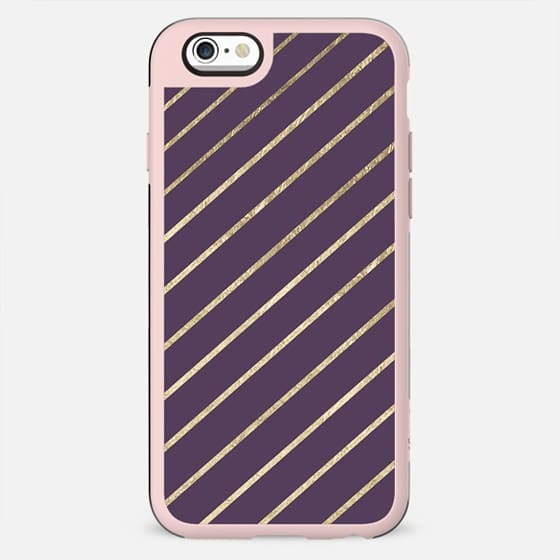 Elegant faux gold purple modern geometrical