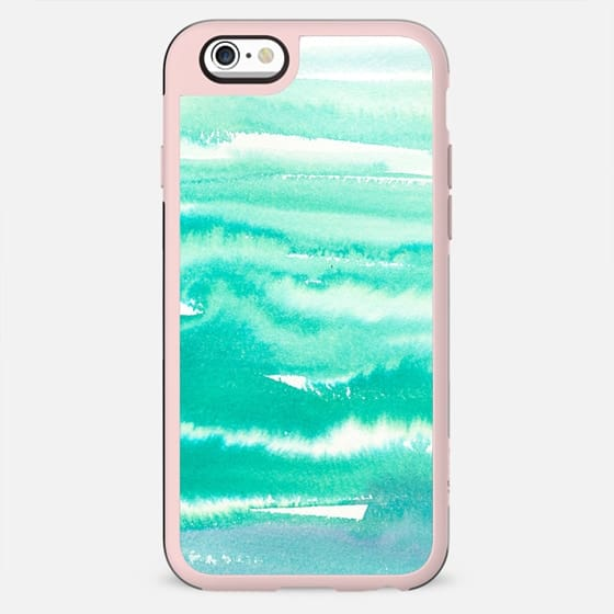 Modern abstract turquoise aqua watercolor - New Standard Case