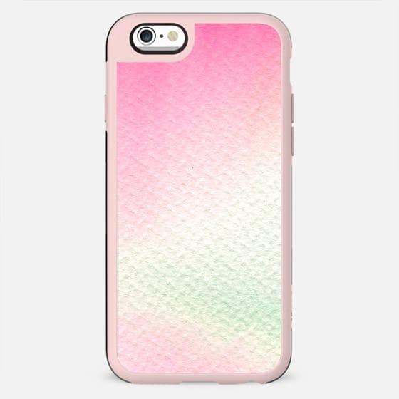 Abstract modern blush pink green watercolor paint - New Standard Case