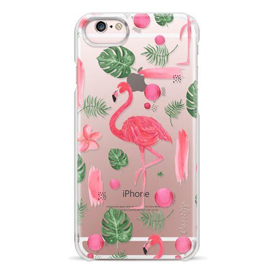 iPhone 6s Cases - Elegant hot pink watercolor tropical flamingo floral