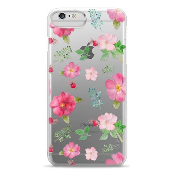 iPhone 6 Plus Cases - Botanical pink country roses hip floral pattern