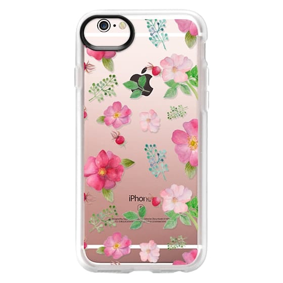 iPhone 6s Cases - Botanical pink country roses hip floral pattern