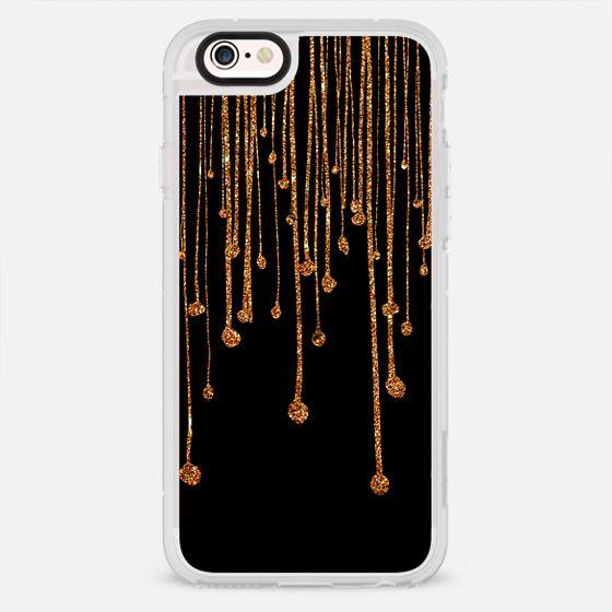 Trendy gold faux glitter water drops - New Standard Case