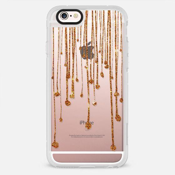 Elegant trendy gold faux glitter water drops - New Standard Case