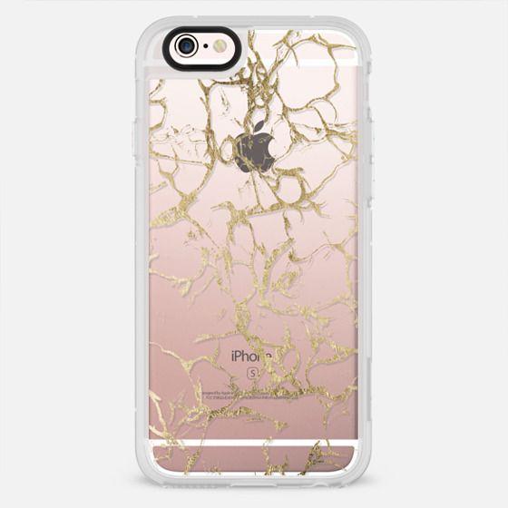 Elegant white gold foil trendy marble pattern - New Standard Case