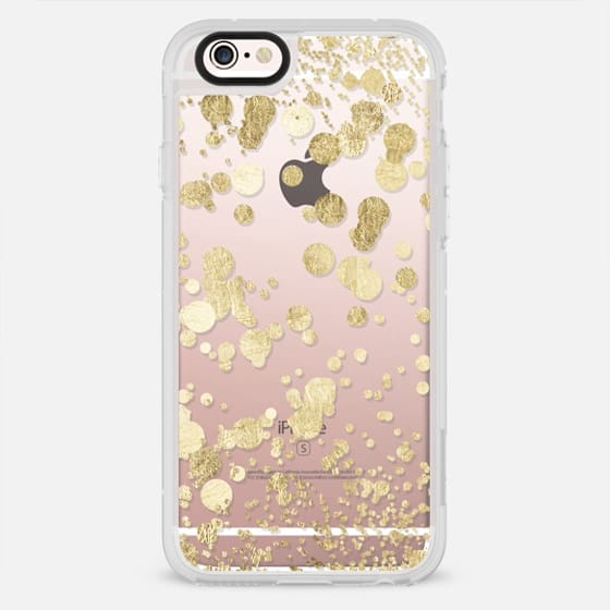 Elegant chic white and gold modern confetti pattern - New Standard Case