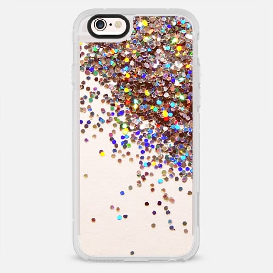 Modern chic colorful trendy sequins print  girly pattern - New Standard Case