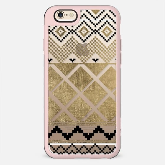 Chic black faux gold tribal geometic abstract patterns - New Standard Case