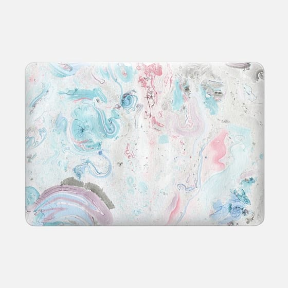 Vintage pastel pink teal chic stylish marble -