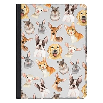 iPad Pro 12.9-inch Case - Watercolor brown black golden hand painted animals