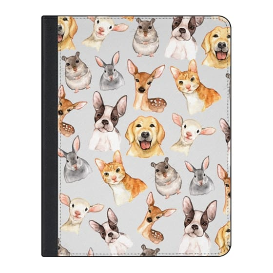 11-inch iPad Pro Covers - Watercolor brown black golden hand painted animals