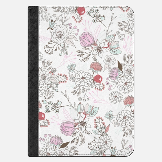 iPad Mini 4 Hülle - Blush pink teal white elegant floral illustration