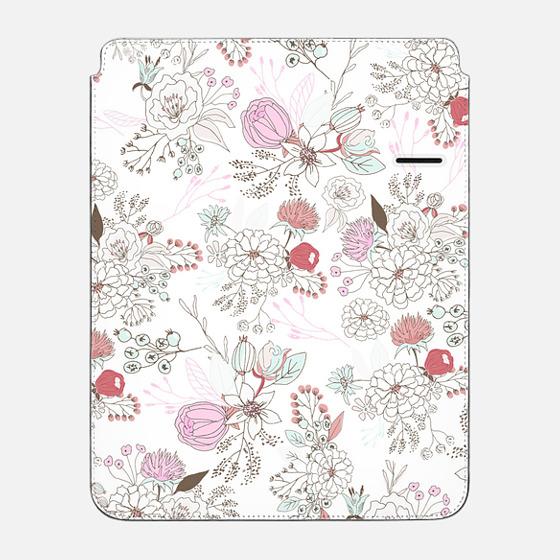 "iPad Pro 12.9"" Hülle - Blush pink teal white elegant floral illustration"