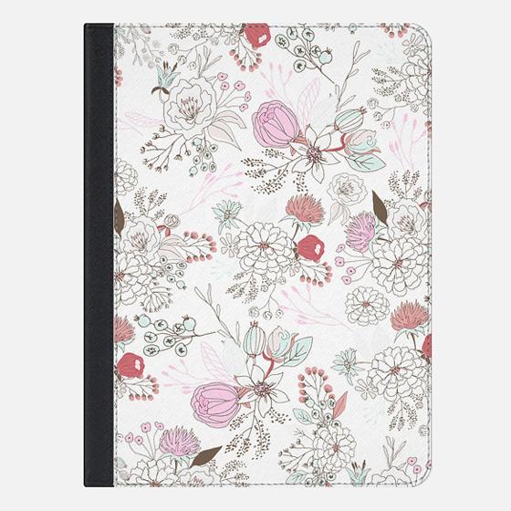 "iPad Pro 9.7"" Hülle - Blush pink teal white elegant floral illustration"